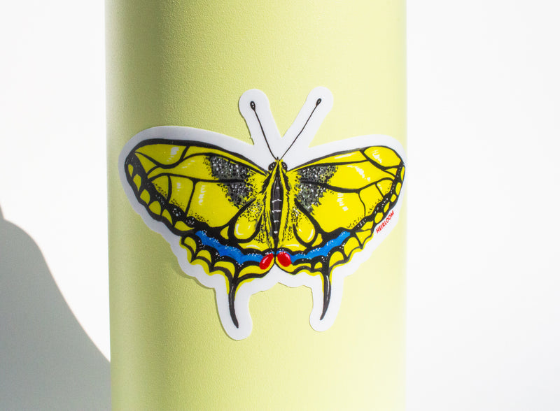 Yellow Swallowtail Butterfly Sticker