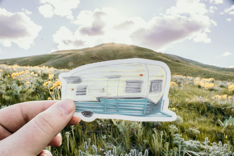 Camp Trailer Sticker | Vintage Trailer Vinyl Decal