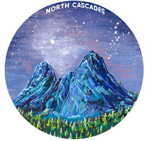 North Cascades Sticker | North Cascades National Park, Liberty Bell Peak Vinyl Decal