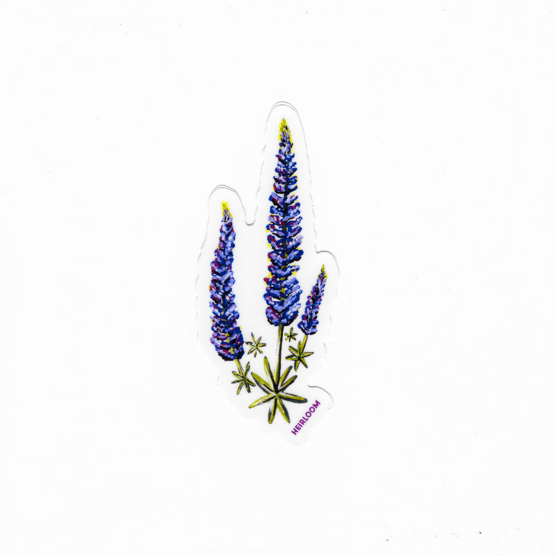 Lupine Wildflower Vinyl Sticker