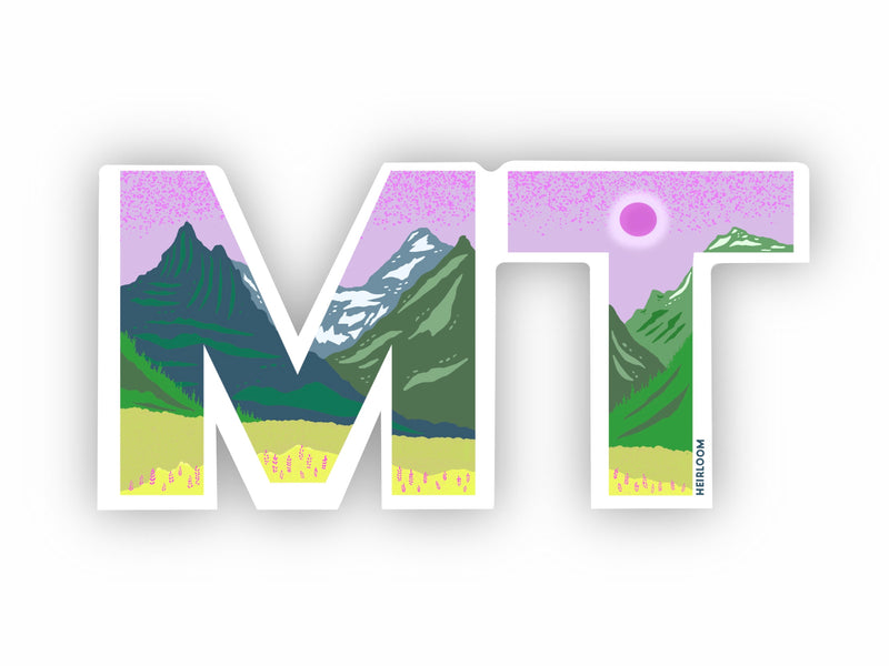 Montana MT State Sticker
