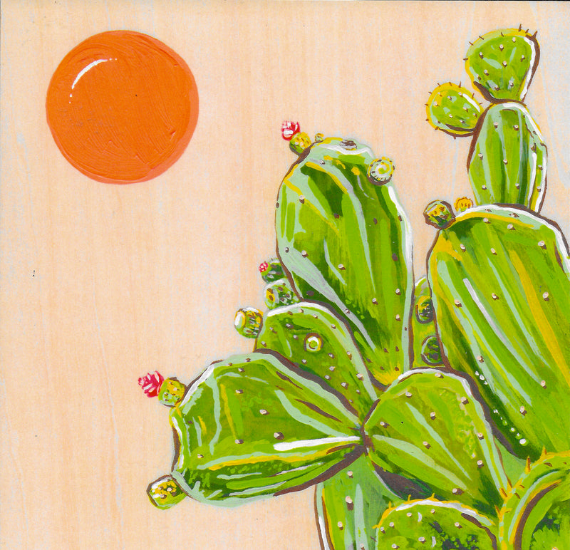 "Prickly Pear in Loreto 8"" x 8"" Art Print"