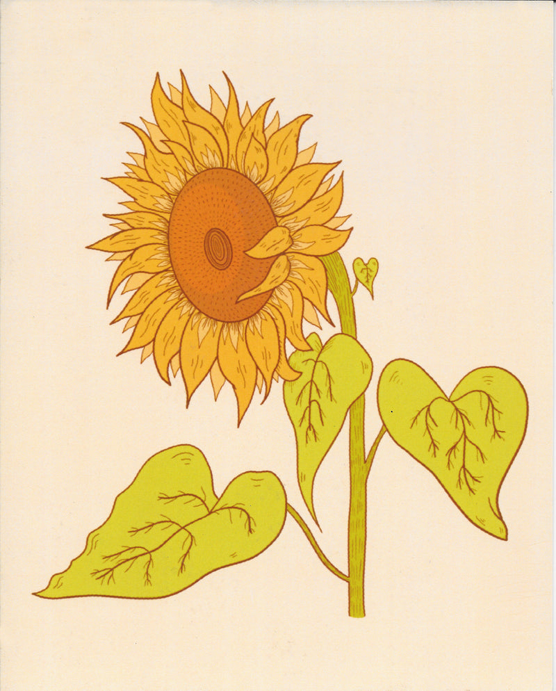 "Retro Sunflower 8"" x 10"" Art Print"