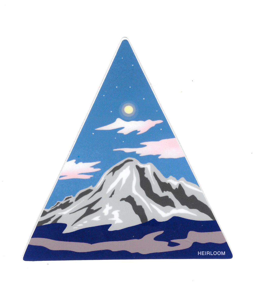 Triangle Peak Sticker - Vinyl Art Decal