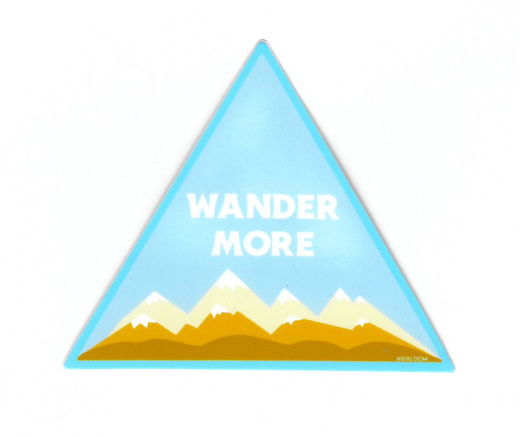 Wander More Sticker | Art Decal