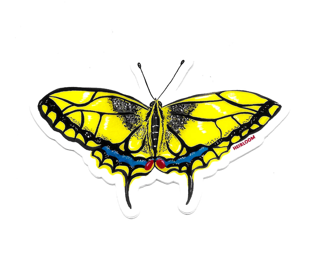 Yellow Swallowtail Butterfly Sticker | Art Decal