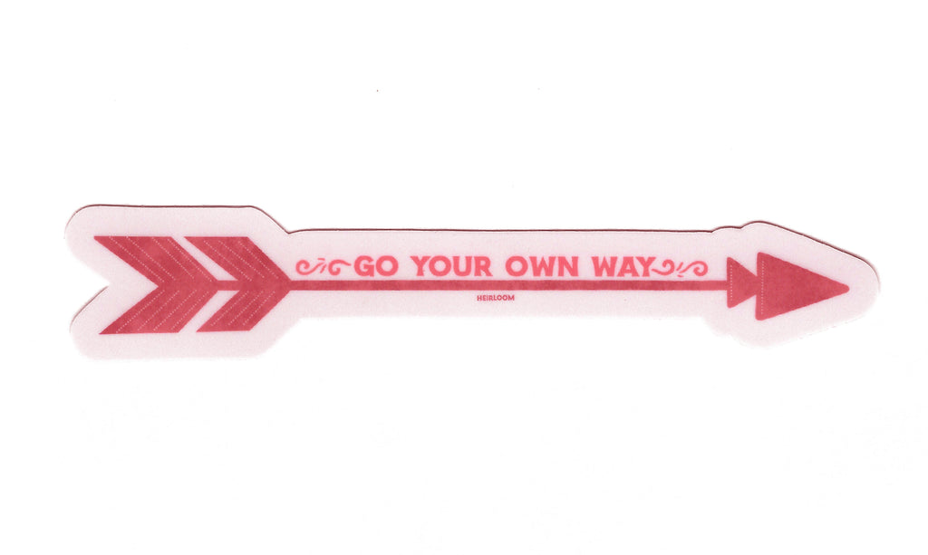 Go Your Own Way Arrow Sticker | Art Decal