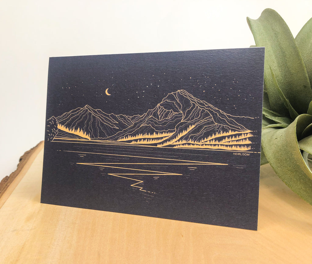 Lake Wenatchee Evening Greeting Card