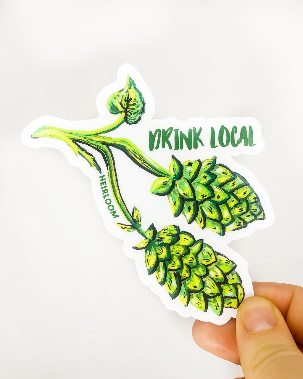 Drink Local Hops Sticker | Vinyl Decal