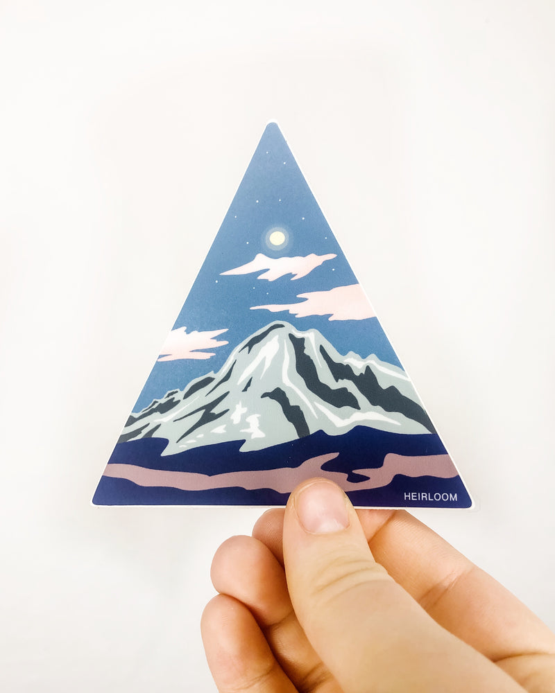 Triangle Peak Sticker | Vinyl Decal
