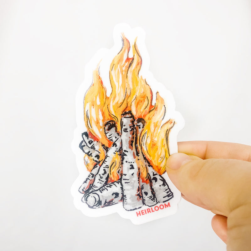 Campfire Sticker | Vinyl Decal