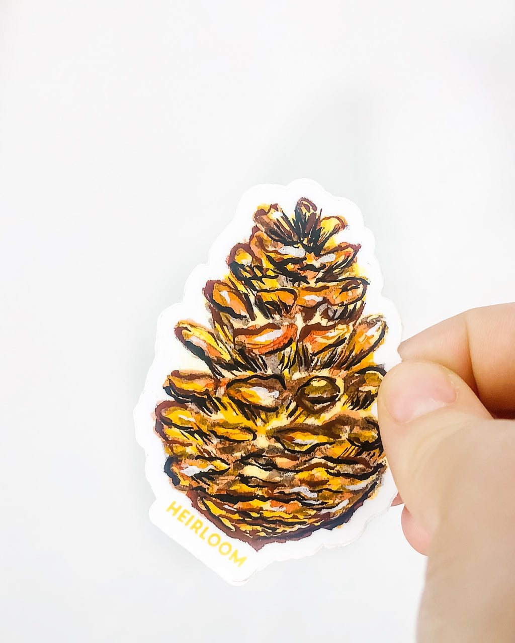 Pine Cone Sticker | Vinyl Decal