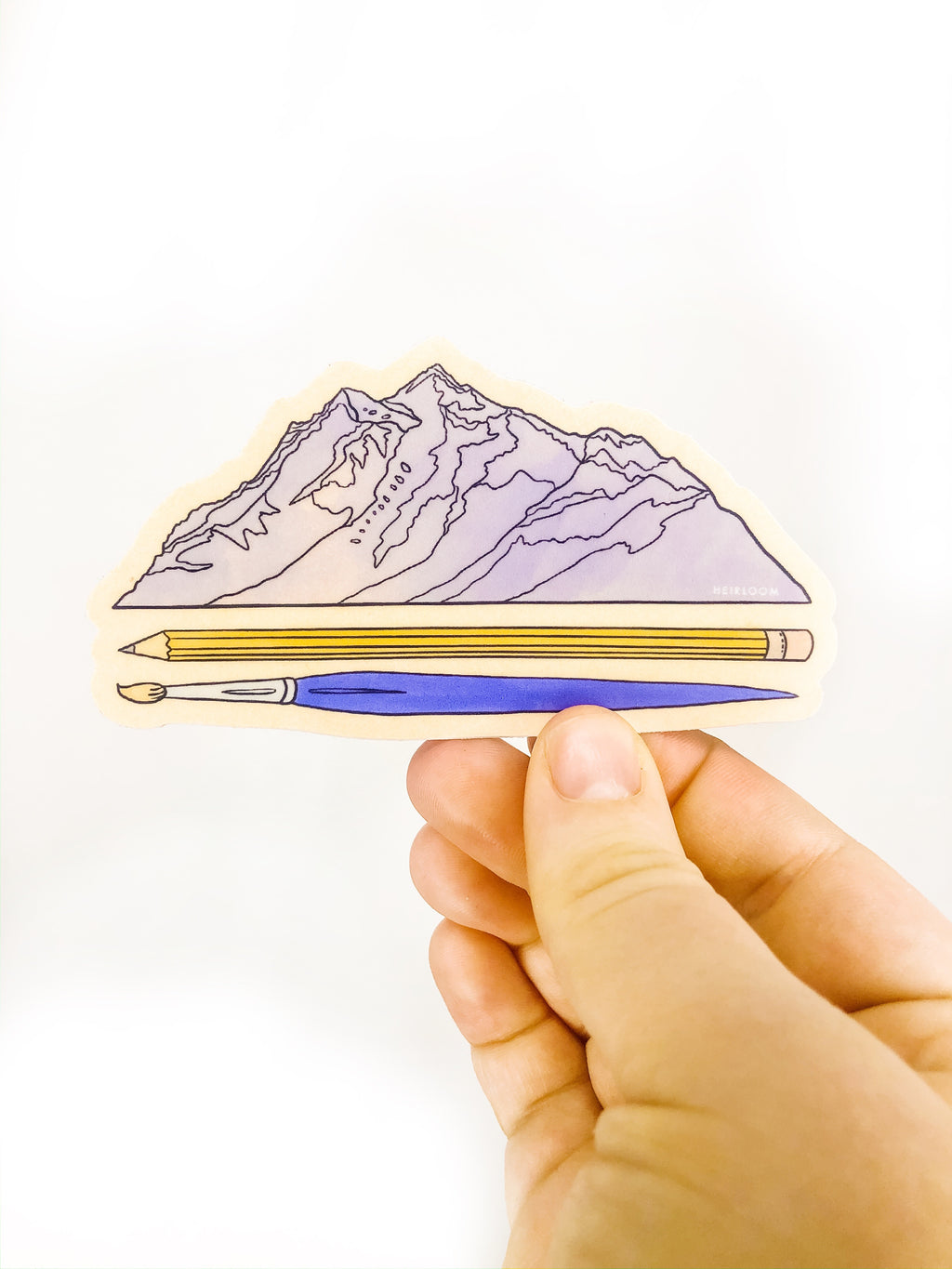 Mountain Artist Sticker | Art Vinyl Decal