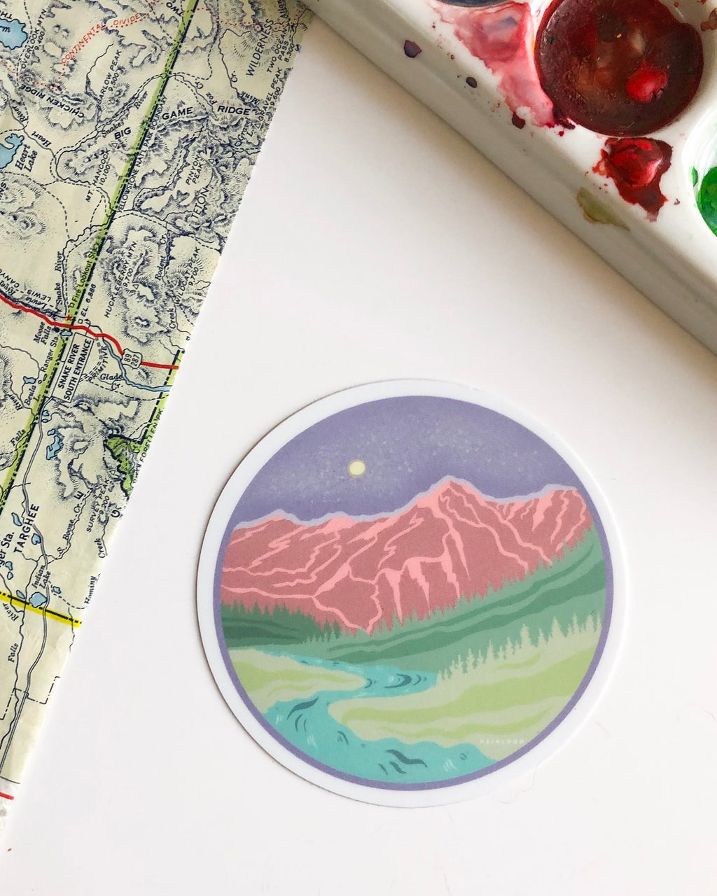 Pastel Leavenworth Sticker