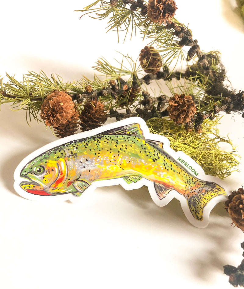 Trout Sticker | Cutthroat Trout Vinyl Decal