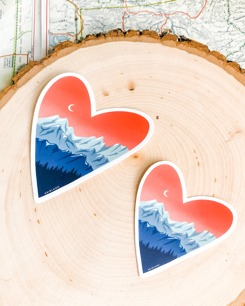 Mountain Love Sticker | Vinyl Decal