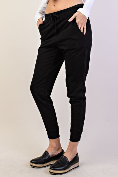 Comfy Knit Essential Jogger Pants in Black | Allure Apparel Co