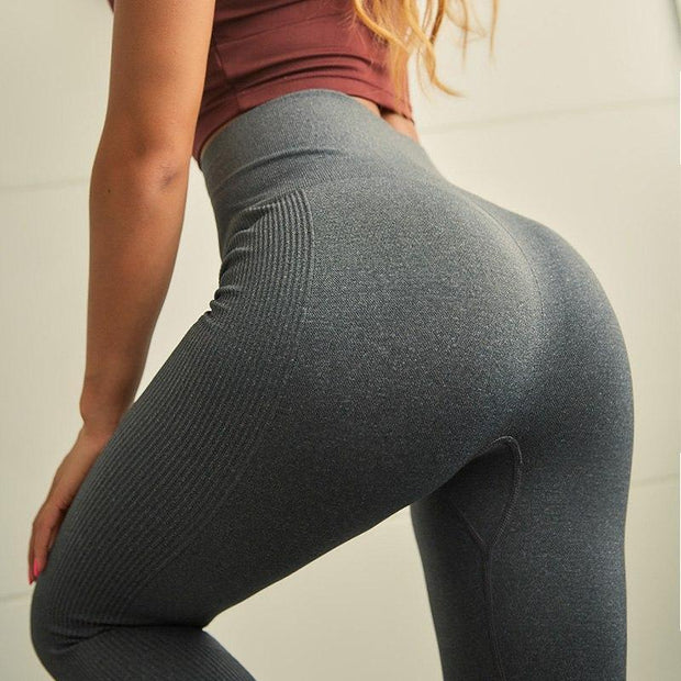 Women's High Waisted Seamless Leggings in Dark Grey | Allure Apparel Co