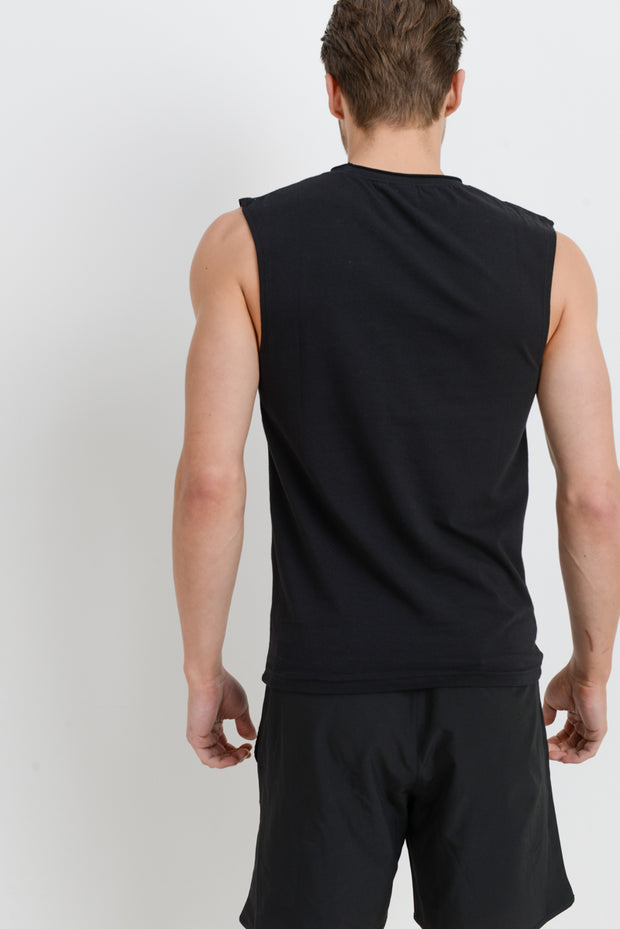Supima Blend Cut-Off Top in Black | Allure Apparel Co