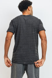 Crew Neck Striped Tee | Allure Apparel Co