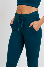 Skinny Cargo Moto Hybrid Joggers in Forest Green | Allure Apparel Co
