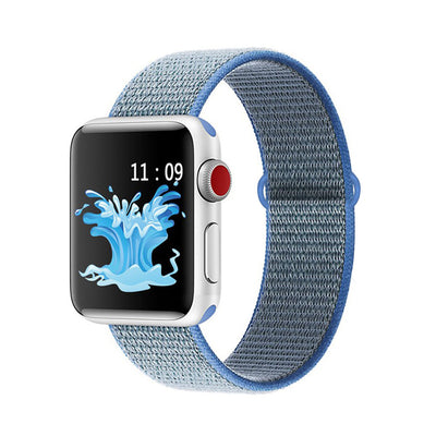 Nylon Weave Sport Loop for Apple Watch in Thaoe Blue | Allure Apparel Co
