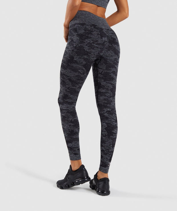 Camo Seamless Set in Baltic Shark Black | Allure Apparel Co