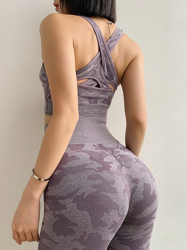 Camo Seamless Set in Mamba Purple | Allure Apparel Co