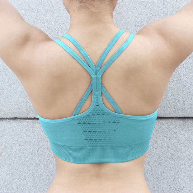 Women's Seamless Set - High Waisted Seamless Leggings & Seamless Padded Push-up Sports Bra in Sky Blue | Allure Apparel Co