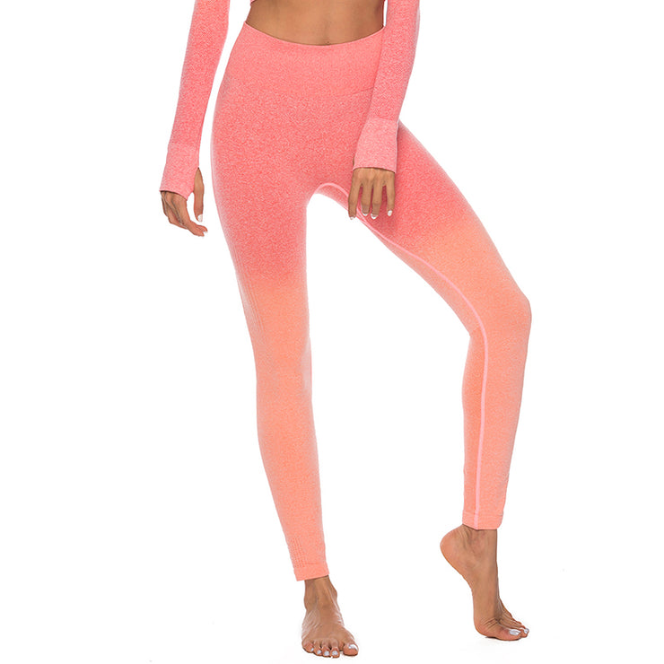 Orange Sunrise Seamless Leggings | Allure Apparel Co