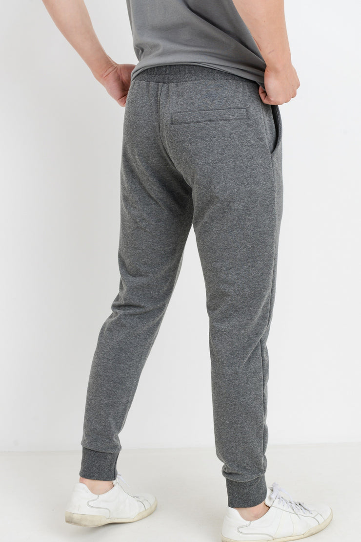 Essential Drawstring Terry Joggers in Grey | Allure Apparel Co