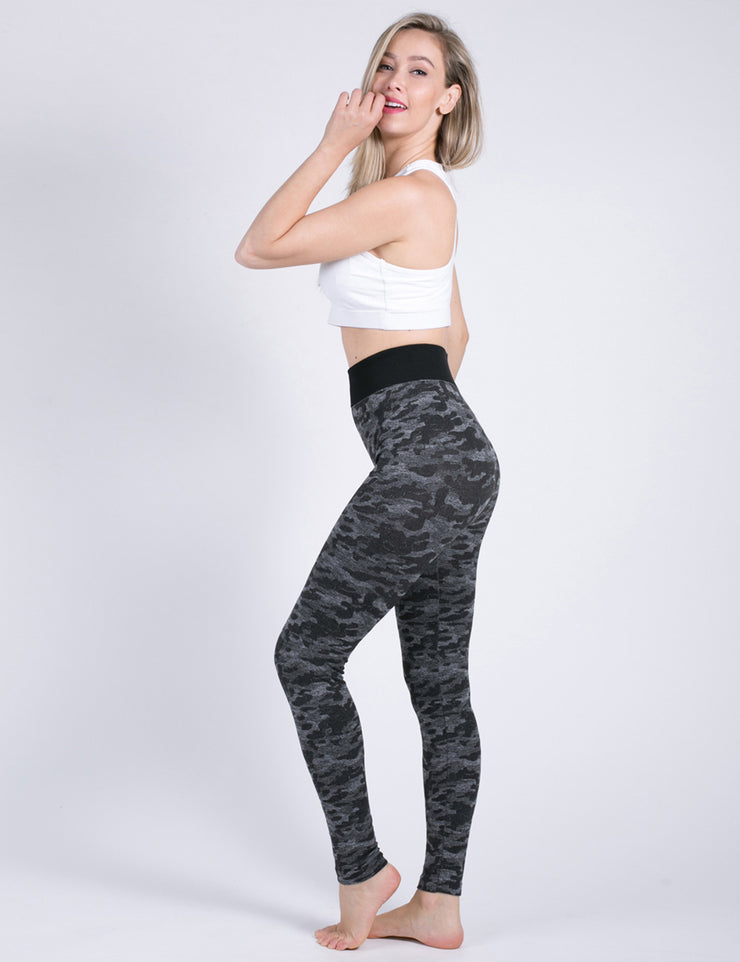 Daring Dark Camo Print Leggings