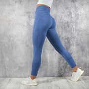 Women's Push Up Leggings High Waisted in Blue | Allure Apparel Co