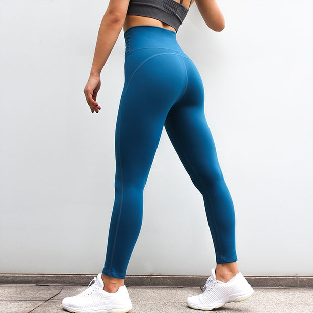High Waisted Fitness Push Up Scrunch Workout Leggings Pants in Deep Blue | Allure Apparel Co