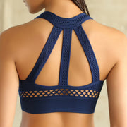 Women's Mesh Super Sport's Bra in Navy Blue | Allure Apparel Co