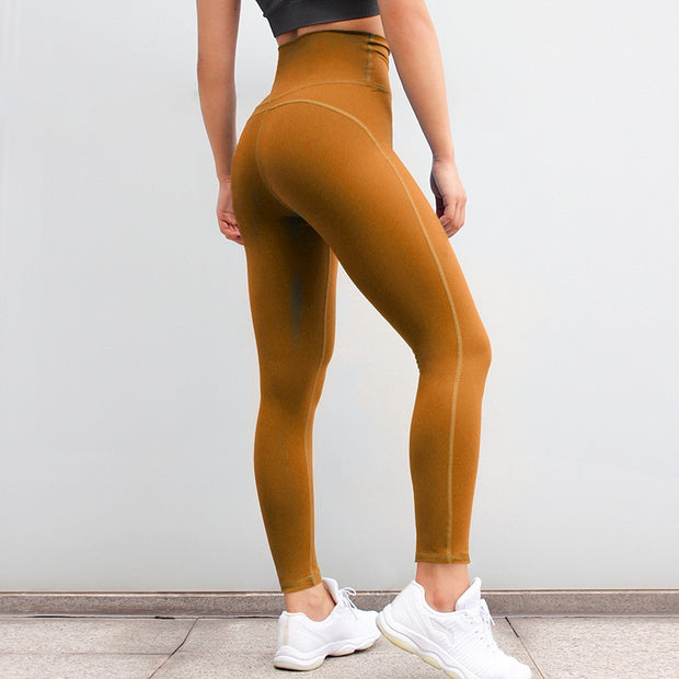 High Waisted Fitness Push Up Scrunch Workout Leggings Pants in Strong Orange | Allure Apparel Co