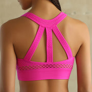 Women's Mesh Super Sport's Bra in Rosey Pink | Allure Apparel Co