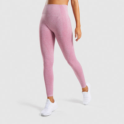 High Waisted Seamless Workout Yoga Leggings in Pink | Allure Apparel Co