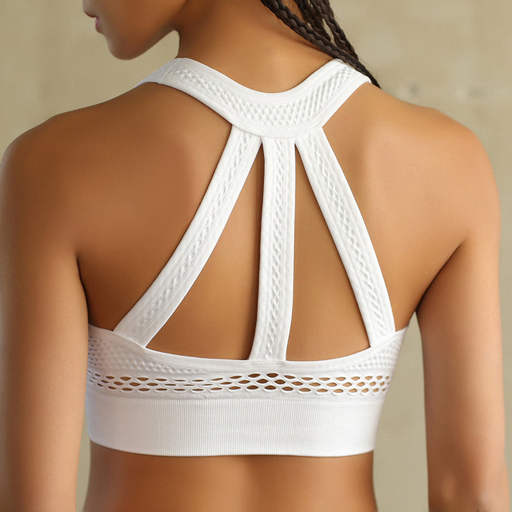 Women's Mesh Super Sport's Bra in White | Allure Apparel Co