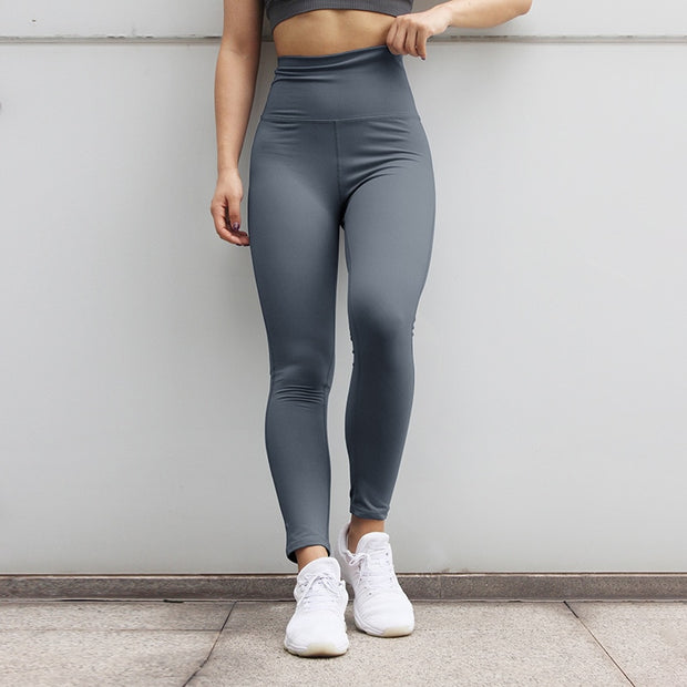 High Waisted Fitness Push Up Scrunch Workout Leggings Pants in Gray | Allure Apparel Co
