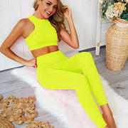 Women's Sportswear Set in Neon Yellow | Allure Apparel Co