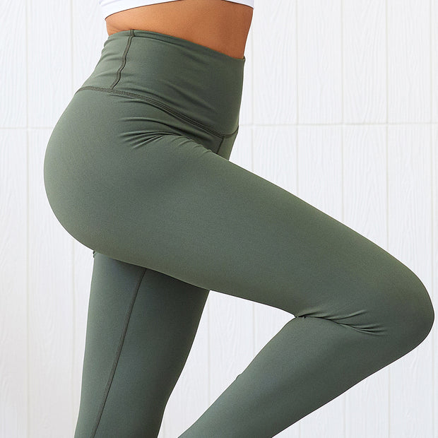 Subdued High Waisted Scrunch Leggings in Forest Green | Allure Apparel Co