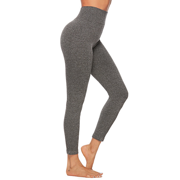High Waisted Essential Heather Workout Fitness Leggings | Allure Apparel Co