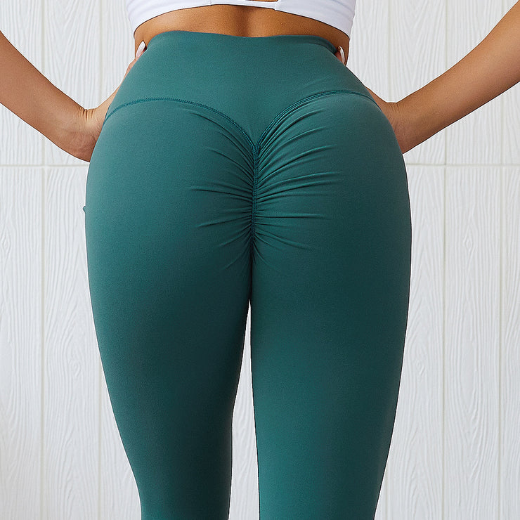 Subdued High Waisted Scrunch Leggings in Mint Turquoise | Allure Apparel Co