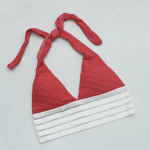 Push Up Workout Sports Bra in Red | Allure Apparel Co