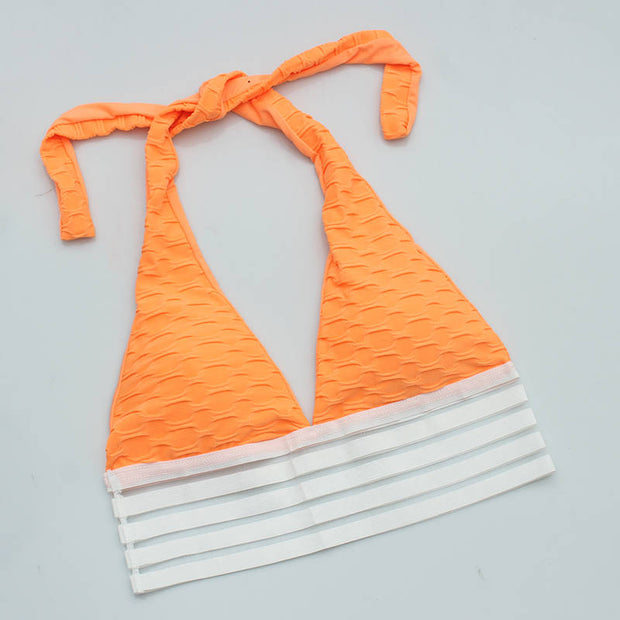 Push Up Workout Sports Bra in Orange | Allure Apparel Co