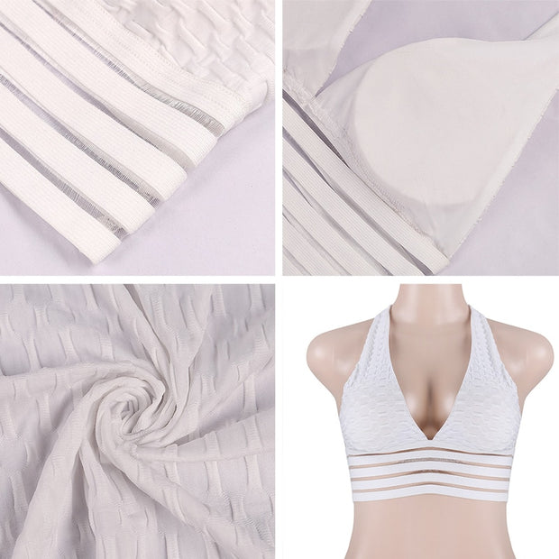 Push Up Workout Sports Bra in White | Allure Apparel Co