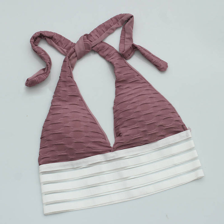Push Up Workout Sports Bra in Purple Red | Allure Apparel Co