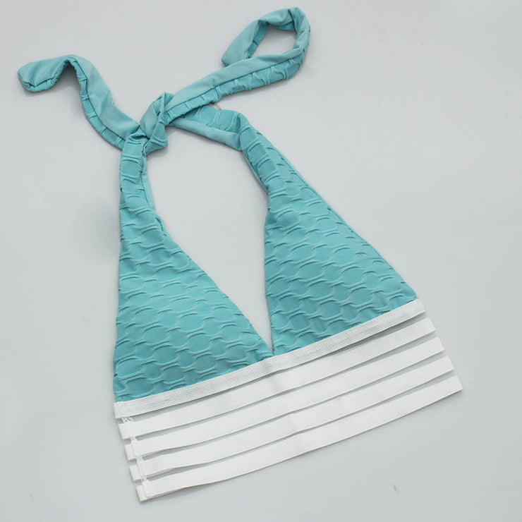 Push Up Workout Sports Bra in Lake Blue | Allure Apparel Co