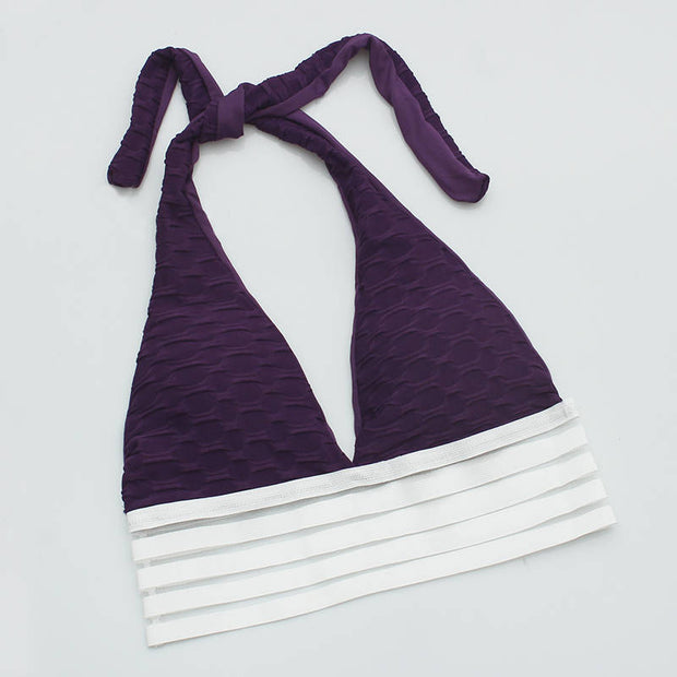 Push Up Workout Sports Bra in Purple | Allure Apparel Co